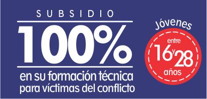 Subsidio 100% para víctimas del conflicto