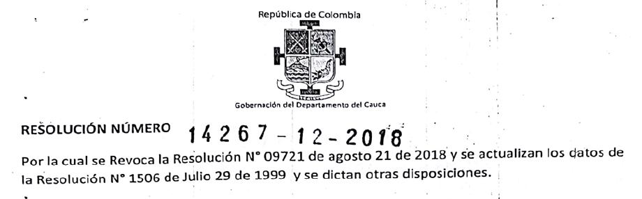 Licencia de Funcionamiento 2019